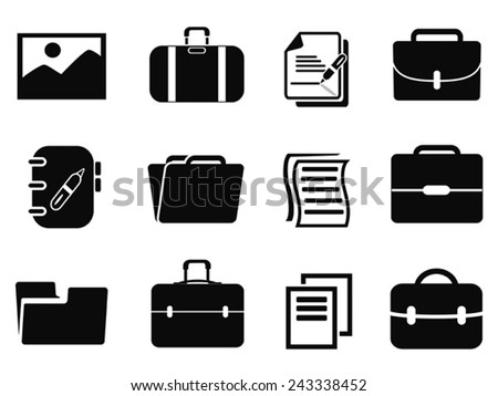 portfolio icons set - stock vector