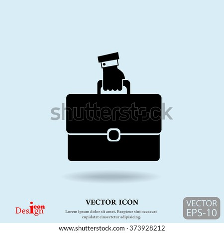 portfolio vector icon - stock vector