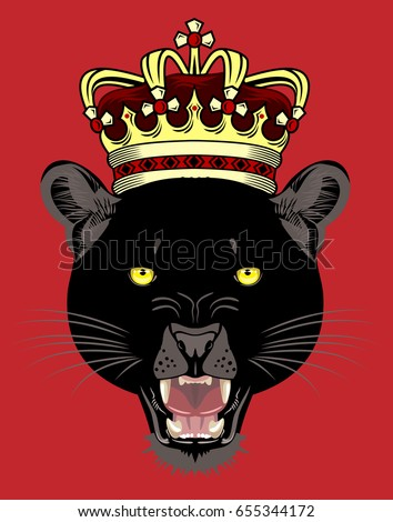 Image result for black jaguar animal with a crown