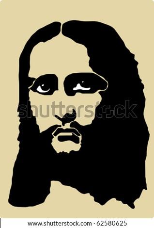 portrait of Jesus Christ  (vector) - stock vector