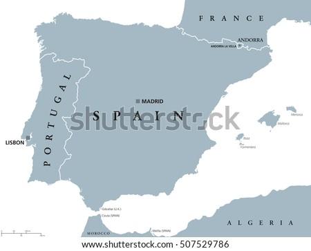 Iberian Peninsula Stock Images RoyaltyFree Images Vectors - Portugal map iberian peninsula