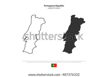 Iberian Peninsula Map Stock Images RoyaltyFree Images Vectors - Portugal map iberian peninsula