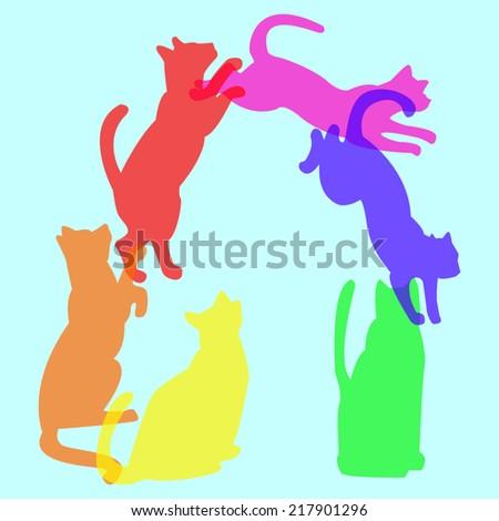 jumping cat stock vectors  vector clip art  shutterstock