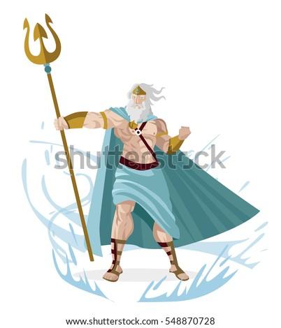 poseidon neptune greek god sea trident stock vector 2018 548870728 rh shutterstock com