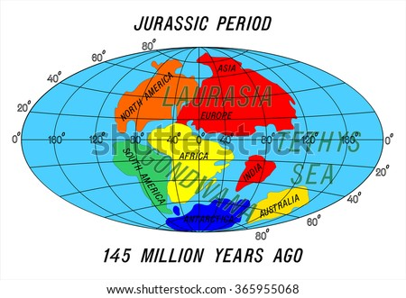 Position continents jurassic period stock vector 365955068 position continents jurassic period gumiabroncs Image collections