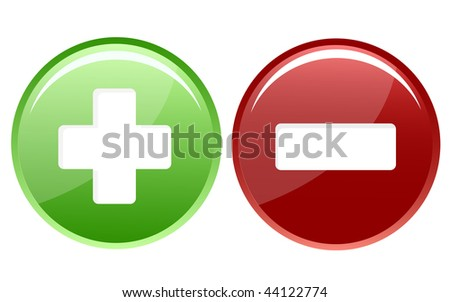 positive and negative icon - stock vector