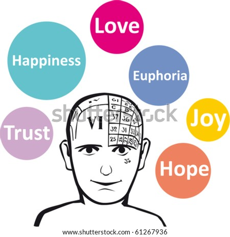 Positive emotions - stock vector