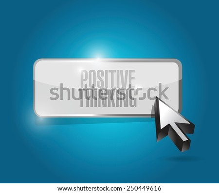 positive thinking button illustration design over a blue background - stock vector