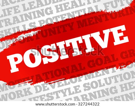 Positive word cloud, business concept - stock vector