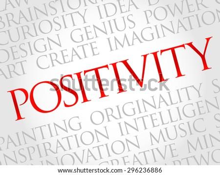 Positivity word cloud, business concept - stock vector