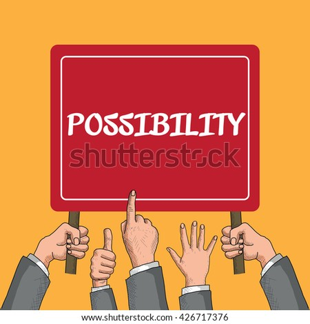 Possibility - stock vector