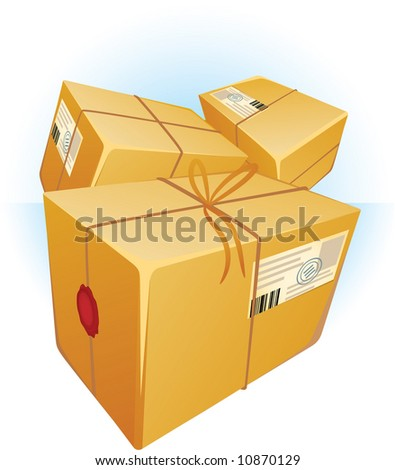 Post boxes. Vector. - stock vector