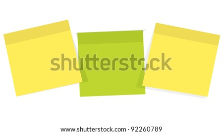 Post it  for reminder note on the white background - stock vector