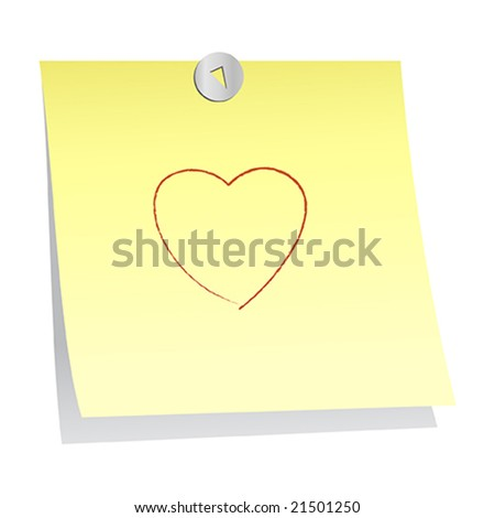 post it note - stock vector