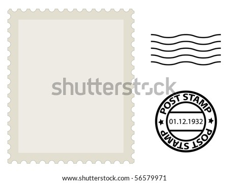 post stamp template - stock vector