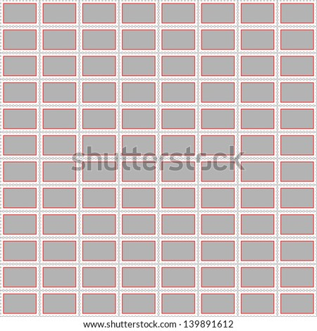 postage stamp background vector - stock vector