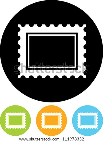 Postage stamp - Vector icon isolated - stock vector
