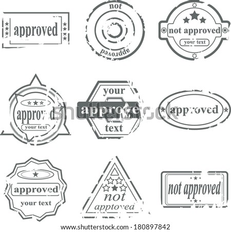 postage stamps - stock vector