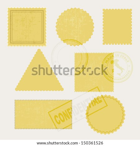 postage stamps VECTOR - stock vector