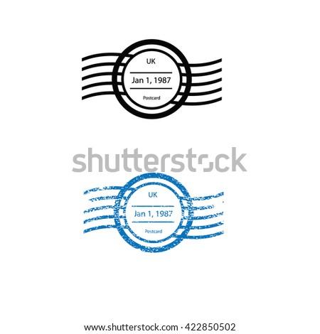 Postal imprint stamp graphic texture - stock vector