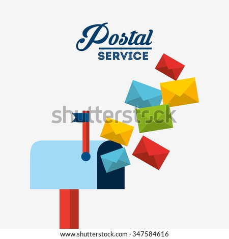 postal service design, vector illustration eps10 graphic
