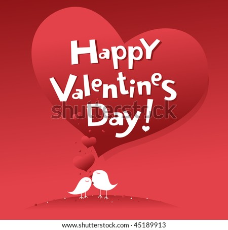 postal to the day of Valentine illustration - stock vector