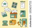 Postal  vector set in cartoon style. - stock vector