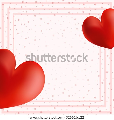 Postcard for Valentine's day. All isolated. - stock vector
