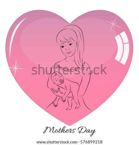 Postcard mothers day greetings mom congratulations stock vector postcard mothers day greetings to mom congratulations on the birth of a child m4hsunfo