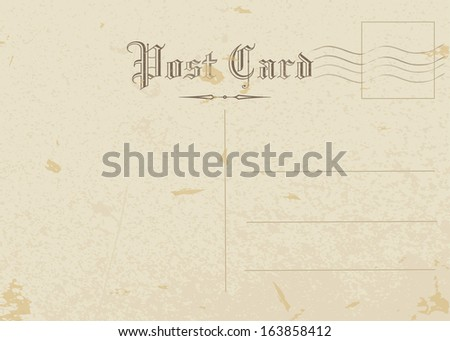 postcard, old paper - stock vector