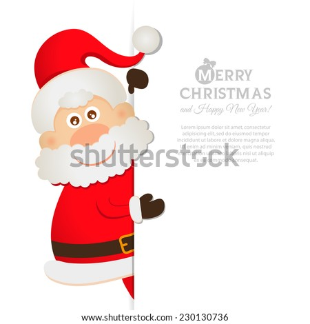 Postcard Santa Claus with space for text 2015 - stock vector