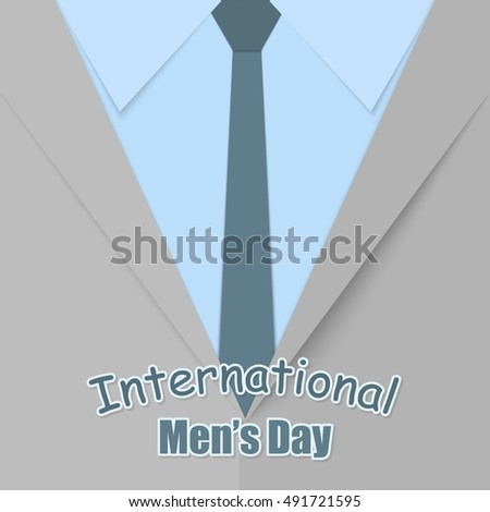 Postcard feast day international mens greetings stock vector hd postcard to the feast day of the international mens greetings to the mens suit m4hsunfo