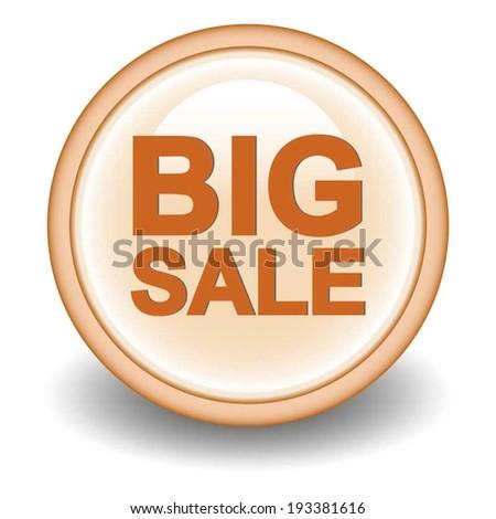 Poster Big sale icon - stock vector