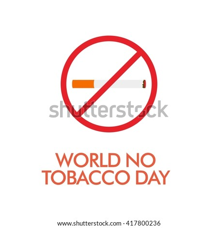 Poster, brochure, flyer or banner design for World No Tobacco Day vector, May 31st