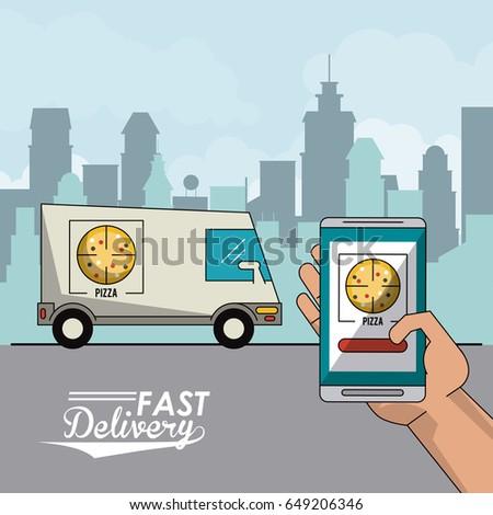 Smart city design stock vector 381475555 shutterstock for Truck design app