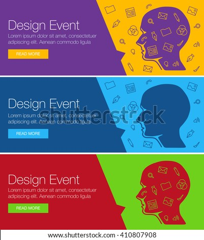 Poster Design Event Online Course Training Stock Vector 410807908 ...