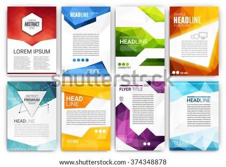 Poster Design Template Set Abstract Modern Stock Vector 374348878 ...