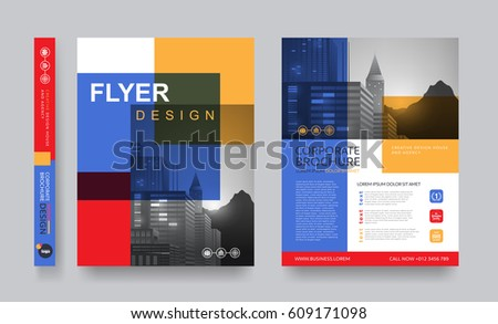 Superb Poster Flyer Pamphlet Brochure Cover Design Layout Space For Photo  Background, Vector Template To Pamphlet Layout