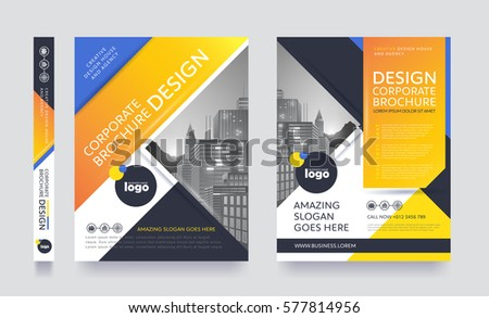 Poster Flyer Pamphlet Brochure Cover Design Stock Vector 577799536 ...