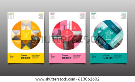 Poster Flyer Template Circle Abstract Background Stock Vector 2018