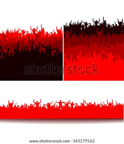 Poster for sports championships and music concerts - stock vector
