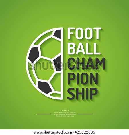 Poster for the football championship. Vector illustration. - stock vector