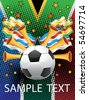 Poster for the World Cup in South Africa. Vector. - stock vector