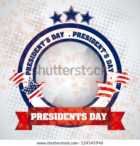Poster illustration of President's Day in the United States of America, vector illustration - stock vector