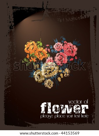 poster of flower 1 of 2 - stock vector