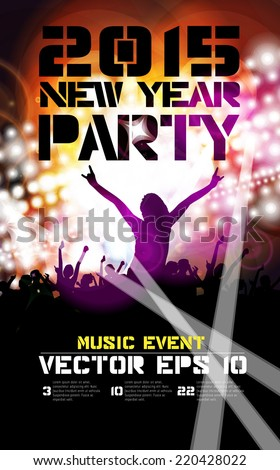 Poster of new year party. Vector illustration  - stock vector