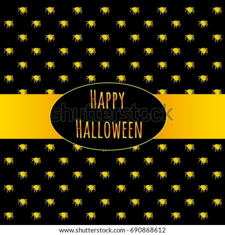 poster on theme halloween holiday party stock vector 690868612