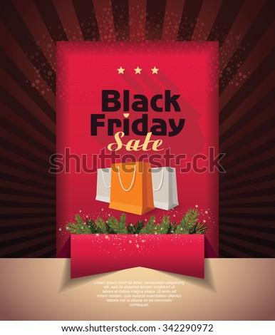 Poster Sale. black friday .Vector illustration. - stock vector
