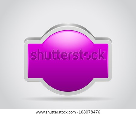 Poster signbord for your text or design on gray white background - stock vector