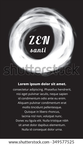 Poster template black and white simple zen religion
